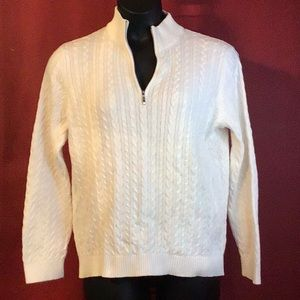 ANNE KLEIN SPORT CABLE SWEATER SIZE L